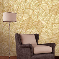 atmosphere wallpaper - Romantic pastoral atmosphere leaves deep embossed wallpaper bedroom living room TV backdrop decoration wallpaper nonwoven