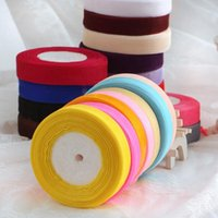 Wholesale 10 Rolls mm m Yards Chiffon Ribbons for Wedding Decorations Christmas Colorful Tapes Sashes Gift Packing Tapes DL91006
