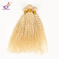 alibaba brazilian hair - Alibaba express hair blonde deep curl brazilian kinky curly hair weave bundles cheapest human hair extensions
