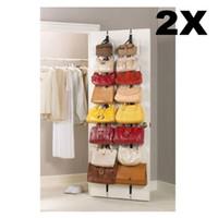 Wholesale Hot Sale Hanging Hat Clothes Organizer Cap Rack Holder Over Door Straps With Hook E5M1 order lt no track