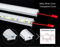 Wholesale Super bright W CM led Rigid Strip light LED Bar light U aluminum Light Non Waterproof LEDs M LED DC12V LED Tube