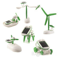 Wholesale 6 IN Solar Power Car Dog Airboat AirPlane Robot DIY Educational Toy Kit