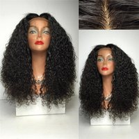 america human hair wig - America Afro curly wig full lace human hair wigs middle part lace front human hair wigs