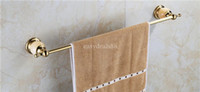 Wholesale Single Towel Bar Towel Holder Towel rack Solid Brass Marble Made Chrome Gold Rose Gold Finish Bathroom Accessories