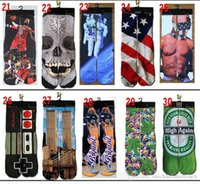 Wholesale Fashion New Sports Stockings pairs D Printed Socks Adult peoples Men s Women s D Unisex Stocking Soft Cotton Socks Whol