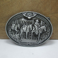 accessories caravans - Western cowboy belt trade caravan silver belt buckle Texas Fashion Mens Western Turbo Nos Tunning suitable for cm wideth belt
