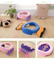 Wholesale Baby Infant Chamber Pots Foldaway Portable Toilet Training Seat Potty RingPotty Training Indoor Outdoor Travel Set Free Liners