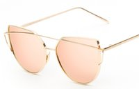 Wholesale New sunglasses fashion trends in Europe and the United States sunglasses metal color film reflective Sunglasses drop shipping