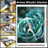 Wholesale Anime Saint Seiya Seiya Shiryu Hyoga Shun Ikki Athena Thanatos Hypnos Beautiful Woolen blanket Sheets Dual purpose