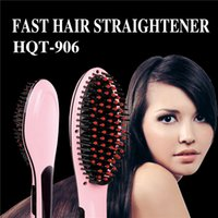 Wholesale Hair Straightener Comb Styling HQT Straightening Irons With LCD PK Antomatic LCD Hair Straightener Comb With Spray colors free logo ok