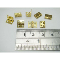 Wholesale 100 Mini Cabinet Drawer Butt Hinge Copper Gold Small Hinge Small Hole Copper Hinge With Screws