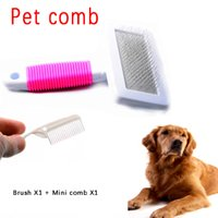 Wholesale 1 set Pet comb Dog Cat Hair Puppy Grooming Tool Pet Hair Fluffy Removal Comb Pet Clean