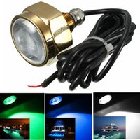 Wholesale Excellent Quality W Waterproof IP68 Rate LED Underwater Marine Boat Drain Plug Light Brightest Lumens DC11 V