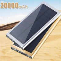 battery pack camera - For iphone mAh portable solar charger power bank solar panel outdoor batteries double USB power source pack for mobile camera gps