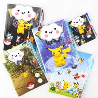 Wholesale 3 Size Cartoon Poke Pikachu Notebook With A Ballpoint Pen Diary Planner Poke Stationery School Office Supply B0548