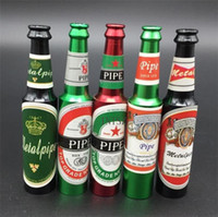 beer types - Creative Bottle Metal Pipe For Smoking Beer Wine Mini Small Metal Pipe For Tobacco Red Wine Beer Bottles Metal Pipes Screen