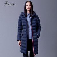 Wholesale Ruiatoo Winter Fashion Real Fur Collar Thickening Coat Plus Size Parka Women s Long Jacket For Women Down Jackets