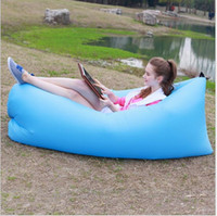 Wholesale Inflatable Sleeping Bags lamzac Outdoor hangout Sleep Sofa Couch Portable camping inflatable Sleeping bag inflatable lounge Lounger Air Bed