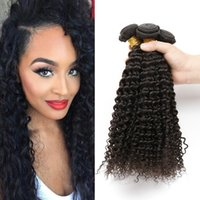 Wholesale 6A Grade Human Hair bundles Brazilian Kinky Curly hair Bundles Natural Color Brazilian Curly Hair DHL Free Shiping