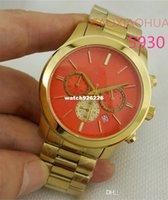 Relojes de pulsera rosados anaranjados de la manera caliente de la señora de la venta caliente relojes funcionales atractivos de lujo del reloj del crono del reloj de la marca de fábrica del cuarzo de la alta calidad del AAA