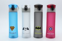 america tours - New Arrival Eco friendly Plastic Tour Portable Camping Sports Water Bottle Cup Spider Superman Transformers Batm Captain America
