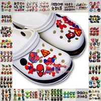 Wholesale Hot Mix Models High Quality Cool cute Cartoon kid shoe PVC shoe charms shoe accessories for Wristbands Fit cor croc jibz Party Gift
