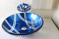 Wholesale Modern Bathroom Basin Wash Basin Glass Bowl clear tempered glass basins for bathrooms glass bowl sinks N