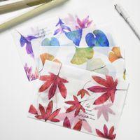 Wholesale Vintage Retro Leaf Translucent Sulfuric Acid Paper Envelope For Postcard Korean Stationery