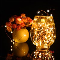 aa decor - 100x M L AA battery invisible copper wire led fairy string lights firefly starry lights for holiday wedding party decor
