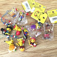 Wholesale 1 CM New Poke Pikachu Cell Phone Lanyard Hanging Straps Charm Universal Phone Mobile Fingerstrap Of Strap And pendant XMAS Toys GiftsSC K02