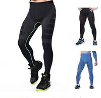 Wholesale Men compression fitness tights pants soft pressure comfortable breathable quick drying outdoor sports trousers three of color