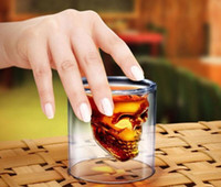 Wholesale Doomed Cup Crystal Skull Shotglass Cups Head Vodka Shot Glass Beer Wine Glasses Whisky ml Mug Drinkware Kitchen Dining Bar Personality