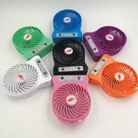 Wholesale Free DHL Mini Protable Fan Multifunctional USB Rechargerable Kids Table Fan LED Light Battery Adjustable Speed F95B Multi Color