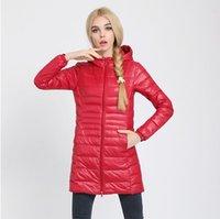 Wholesale Down Parka Famous Brand Designer Winter Jacket Women Long White Duck Down Jacket Outwear Ultralight Hooded Thin Coat