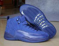 al por mayor cajas premium-Nuevo Retro 12 Premium Azul Real Zapatillas de baloncesto azul Suede Hombres 12s Royal Blue Negro Zapatillas de deporte de alta calidad con Zapatos Caja