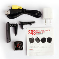 Wholesale HD P P Sport Mini Camera SQ8 DV Voice Video Recorder spy Infrared Night Vision Digital Small Cam camcorder hidden
