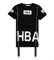 Wholesale 2016 Men s HBA T shirts for sale The HBA stamp lovers men and women casual short sleeve head T shirt men s polos black and white sizes