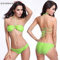band bikini - ladies sexy swimwear sexy bra with highwaist band slip