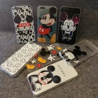 animated apples - NEW Hot animated cartoon phone set for iphone s s plus SE Sweetheart Mickey Minnie Mouse Silicone Phone Cover Shell