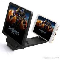 Dernières Phone magnifier écran 3D HD Video Amplificateur support portable portable pliable Gardez le grossissement 2-3 fois les accessoires du téléphone