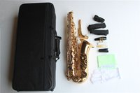 Wholesale High Quality Alto Saxophone with Gold Lacquer Surface Brass Material Eb Tone and Can be Customized