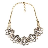 alloy structure - Diffuser Necklace Collares Maxi Necklace Hollow Structure Lotus Crystal Statement Necklace Jewelry making supplies made in china