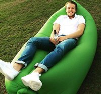 Cheap 60pcs Lamzac Siesta Instantly Inflatable bed Lounge Chair Air Sofa sleep Bag 10 Seconds Quick Open Sleeping sofa