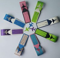 Wholesale PU bag tags kinds of candy colors option of id card holder lage tag