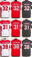 andre johnson jerseys - 2016 New Men s Tyrann Mathieu Andre Ellington David Johnson Black White Red Top Quality jerseys Drop Shipping