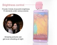 Wholesale DHL Free ShippBuilt in led Lights iblazr LED FLASH for Camera Phone Support for Multiple Photography mini Selfie Sync