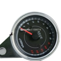 Wholesale LED light Universal RPM Scooter Motorcycle Analog Tachometer Tach Meter Tester Two Color w Backlight Light RPM