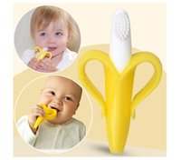 Wholesale Retail Silicone Banana Toothbrush High Quality And Environmentally Safe Baby Teether Teething Ring GI3002