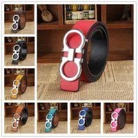 Wholesale 8 Colors Korea style belts for men and woman smooth buckle belts Fashion belt LA25