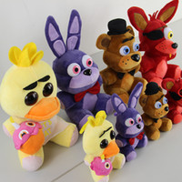 Wholesale Five Nights At Freddy s Plush Toys Keychains FNAF Teddy Bears Foxes Duck Rabbit Plush Cartoon Stuffed Toys